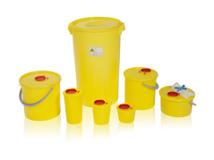PLASTIC CONTAINERS FOR MEDICAL WASTE