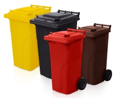 PLASTIC CONTAINERS FOR WASTE