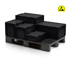 ESD EURO CONTAINERS WITH LID
