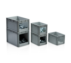 EURO CONTAINERS WITH OPEN FRONT