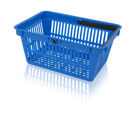 Shopping basket 1 handle without the printing area