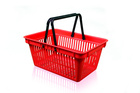 Shopping basket 2 handle without the printing area