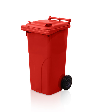 Dustbin 120 l - red