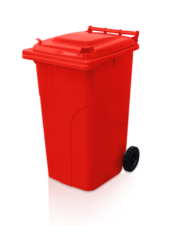 Dustbin 240 l - red