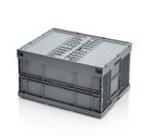 Folding container 80 x 60 x 45 cm with lid