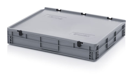Euro container with lid 80x60x12 cm