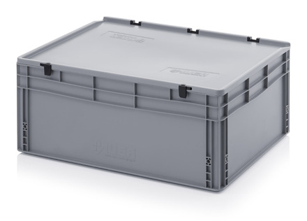 Euro container with lid 80x60x32 cm