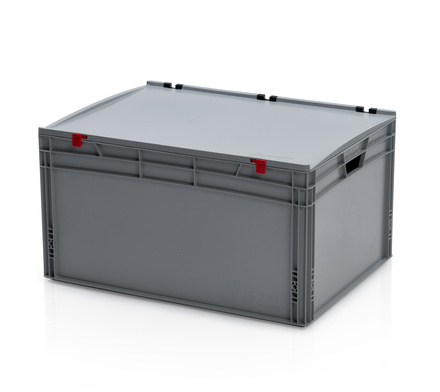 Euro container with lid 80x60x43,5 cm