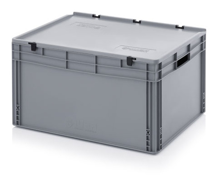 Euro container with lid 80x60x42 cm