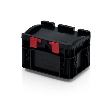 ESD Euro containers with lid 20x15x13,5 cm
