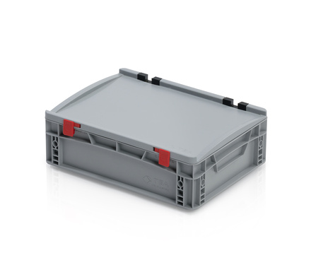 Euro container with lid 40x30x13,5 cm closed handles
