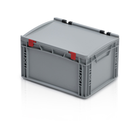 Euro container with lid 40x30x23,5 cm closed handles