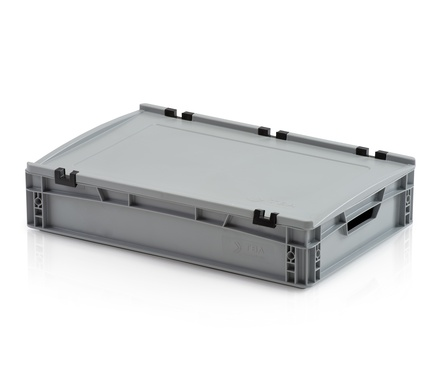 Euro container with lid 60x40x12 cm