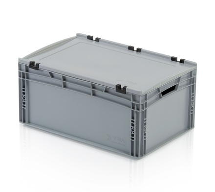 Euro container with lid 60x40x27 cm