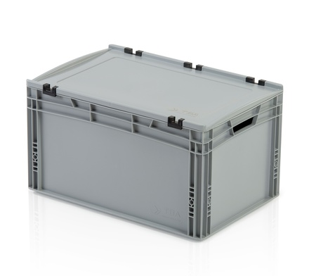 Euro container with lid 60x40x32 cm
