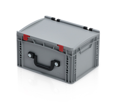 EURO container with lid 40*30*23,5 + 1 handle on the long side