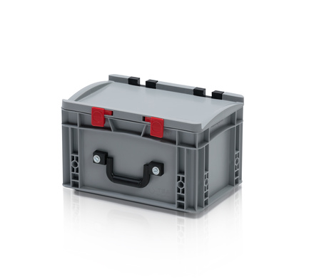 EURO container with lid 30*20*18,5 + 1 handle  on the long side