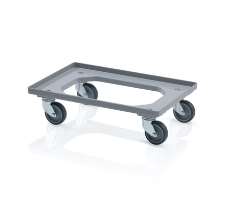 Transport trolley 2 swivel wheels - gray