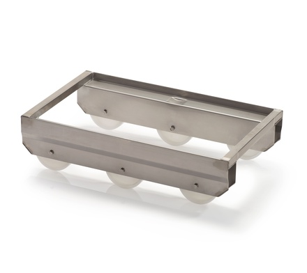 Stainless steel crate dolly 6 roller