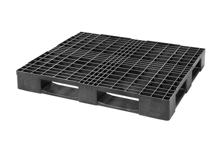 Medium plastic pallet 120x100 cm - 5 rails