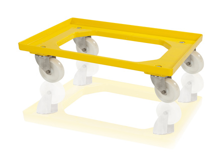 Transport trolley 2 steering wheels - polyamide wheels