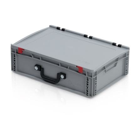 EURO container with lid 60*40*18,5 + 2 handles on the long side