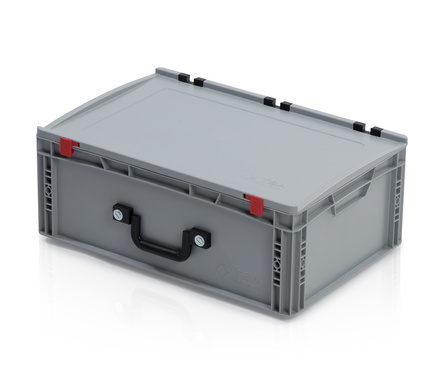 EURO container with lid 60*40*23,5 + 2 handles on the long side