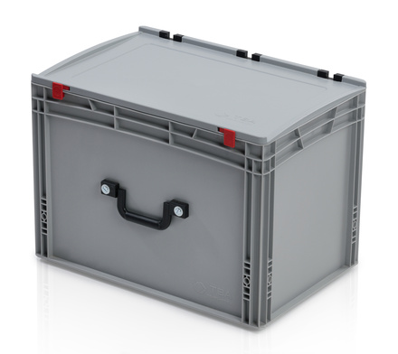 EURO container with lid 60*40*43,5 + 2 handles on the long side
