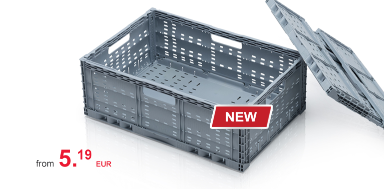 Folding container perforatedNew in assortment