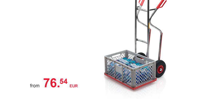 Hand trolley for containers